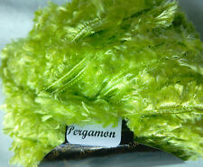 2 x 50 g Decorative Fur Textured Yarn, Lime Green. Knit/Crochet/Weave/Textiles