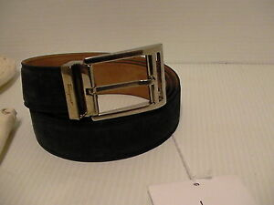 Salvatore ferragamo suede blue belt size 44 inch adjustable made in Italy