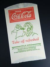 1940s Coca-Cola No-Drip Bottle Protector WWII American Pilot Vintage Advertising