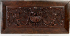 Antique Georgian Irish Carved Mahogany Centre Salvaged Panel Shell Acanthus Leaf