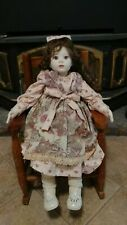 "28"" artist Ooak doll Donna Rubert Chyna painted face cloth porcelain toddler"