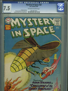 Mystery in Space #67 - May, 1961 - CGC 7.5 (Featuring Adam Strange)