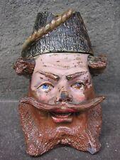 Rare Pot à Tabac  XIXème grès Polychromé
