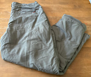 Simms Insulated Fishing Pants Dark Khaki SZ XXL Nice EUC