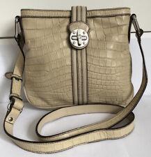 DKNY Leather Cross body Bag Cream