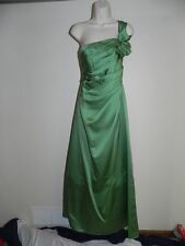 Davids Bridal Dress Size 2 Clover Green Bridesmaid Prom F14430 Satin NWT $159