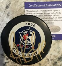 SIGNED 2000 ALL STAR OFFICIAL NHL GAME PUCK RAY BOURQUE HOF TORONTO