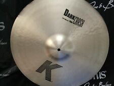 "NEW 19"" Zildjian K Dark Thin Crash Cymbal"