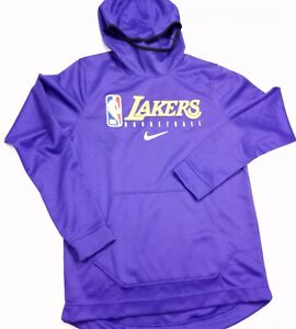 LA Lakers Nike Spotlight On Court Practice Performance Pullover Hoodie M-TALL