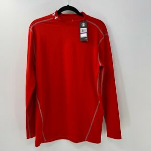 Under Armour Men's ColdGear Armour Compression Mock shirt sz XXL NWT Red