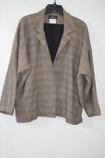 Eskandar Gray Plaid 65% Linen/15% Silk/20% Wool/2% Lycra Lined Jacket Size 1