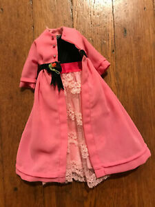 Vintage Barbie Doll Francie 1232 Two for the Ball Dress Velvet Gown & Long Coat