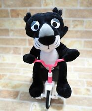 """Pink Panther Tricycle Gimmick Plush Doll Black Ver. Japan Prize RARE 12"""""""