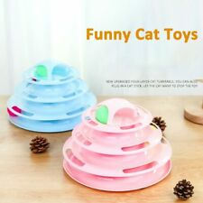4 Levels Pets Cat Tower Tracks Disc Toy Ball Training Intelligence Amusement Toy