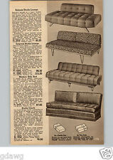 1954 PAPER AD Belmont Mid Century Modern Sofa Couch Studio Lounge