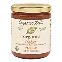 Organico Bello Organic Medium Salsa 15 Oz