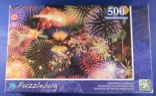 NEW Puzzlebug FIREWORKS SYMPHONY 500 piece Jigsaw Puzzle Colorful 4th of July