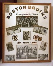 Vtg Boston Bruins NHL Stanley Cup Championship Team 1969-70 20 Year Reunion Lot