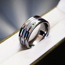 Original Tungsten Carbide Ring Wedding Band Engagement Size Q S T V Y Z Shell xx