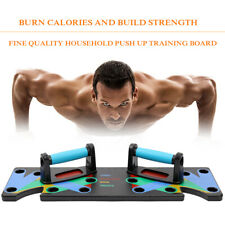 9in1 Push Up Rack Board Fitness Workout Train Muscle Exercise Pushup Stands Z3Y0