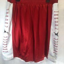 Air Jordan Mens Retro 11 Basketball Shorts Red White Mesh Reversible 3XL New