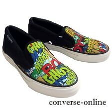 RARE! Boys CONVERSE All Star SKID GRIP COMIC SLIP ON Trainers Shoes UK SIZE 12.5