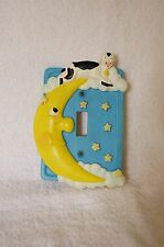 3D Hand Painted Resin Hey Diddle Diddle Single Wall Switch Cover Kids Nursery
