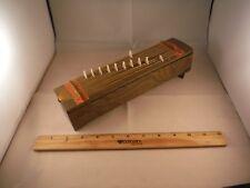 """Unusual Vintage Mirrored Japanese Harp """"Japanese Sunrise"""" Trinket Music Box"""