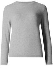 New M&S Womens Ladies Marks and Spencer Knitted Grey Round neck Jumper Size 10
