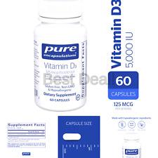 Pure Encapsulations - Vitamin D3 5,000 IU - Hypoallergenic Support for Bone, ...