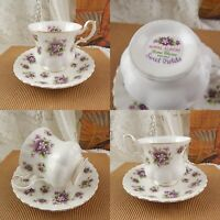 ROYAL ALBERT PORCELLANA SWEET VIOLETS VINTAGE TAZZA E PIATTINO VIOLETTE