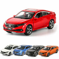 Honda Civic 1/32 Scale Model Car Alloy Diecast Toy Vehicle Collection Gift Kids