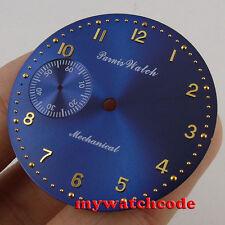 38.9mm blue dial fit eta 6497 seagull movement Watch Case D101