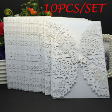 10Pcs Wedding Card Invitation Party Invitation Cards Envelope Carved Model