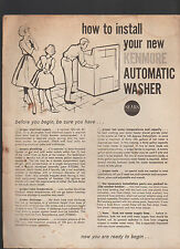 How to Install Your New Kenmore Automatic Washer 1950s Sears