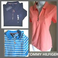 TOMMY HILFIGER womens polo shirt Regular Fit Zip front