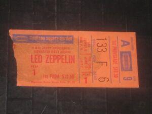 LED ZEPPELIN 1977 CONCERT TICKET STUB**MADISON SQUARE GARDEN**JUNE 7, 1977**RARE