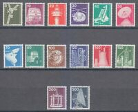 Berlin 1975-1976 MNH Mi 494-507 Industry Type stamps. Space,tractor,chemical **