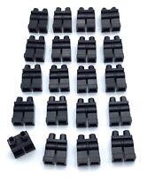 LEGO LOT OF 20 BLACK MINIFIGURE LEG PIECES PANTS PEOPLE BODY PARTS
