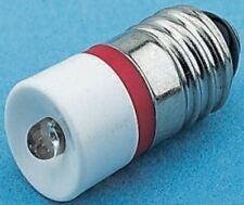 Led Réflecteur Ampoule,E10,Rouge,Simple Puce,10 mm Lampe,10mm Diamètre 28 V/