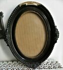 ANTIQUE DAMAGED OVAL WOOD GESSO FRAME 9 1 2 x 7 1 2 W GLASS FOR PICTURE SZ  5X7