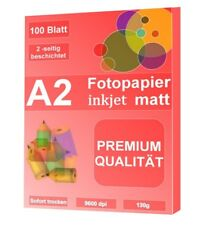 A2 Inkjet Fotopapier matt, 130g, 100 Blatt, 2-seitig beschichtet