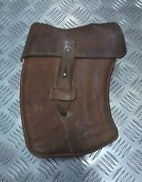 Genuine Vintage CZ Military Issue Leather Curved Ammo Magazine Case Belt Loops