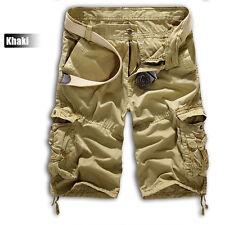 Mens Military Combat Camo Cargo Shorts Pants Work Casual Short Army Trouser UK