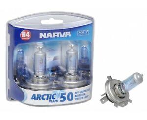 Narva Globe H4 12V 60/55W Arctic Plus50 48677BL2 fits Mitsubishi Lancer 1.5 1...