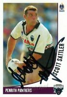 ✺Signed✺ 2003 PENRITH PANTHERS NRL Card Premiers SCOTT SATTLER Daily Telegraph