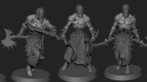Dark Kin Wracked Warriors x 5 Resin Coven Wracks drukhari dark eldar