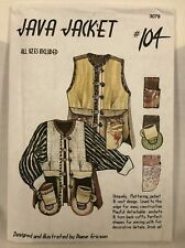 Vtg Diane Ericson Java Jacket Vest Sewing Pattern 104 Art to Wear Sz XS-XXL NIP