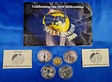1997-2000 Kiribati Samoa Millenium 2000 Gold and Silver Proof Set 5 Coin Set COA