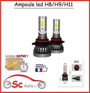 ampoule led H11 12v/24volt 6000k 12000lm auto,camion pour phare,anti brouillard